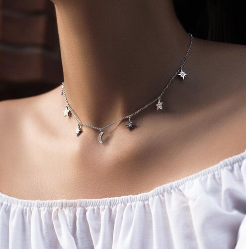 Moonlight Necklace | White Gold
