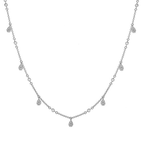 Raindrops Necklace | White Gold