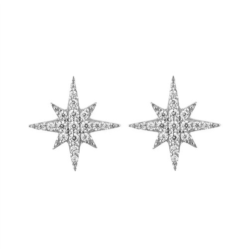 Stella Earrings | White Gold