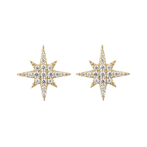 Stella Earrings | Yellow Gold