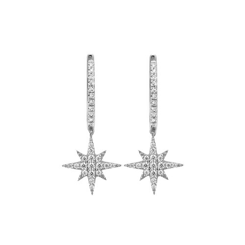 Celine Earrings | White Gold
