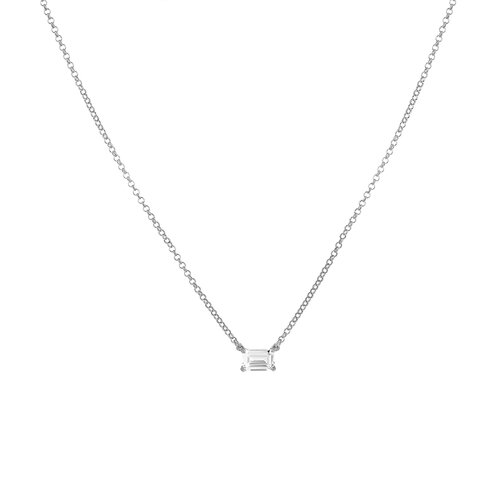 Nicole Necklace | Rhodium Plated