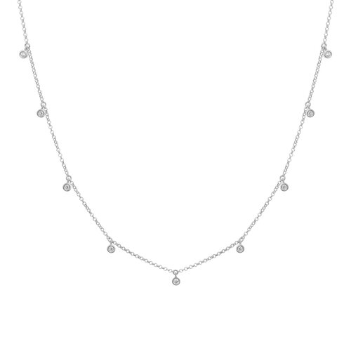 Bluebell Necklace | Rhodium Plated