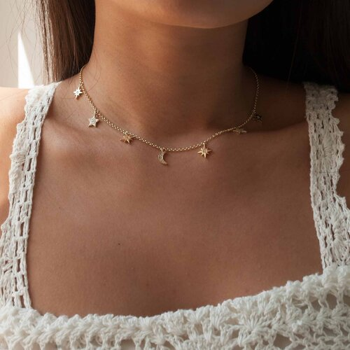 Moonlight Necklace | Yellow Gold Plated