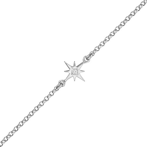 Star Bracelet | Rhodium Plated