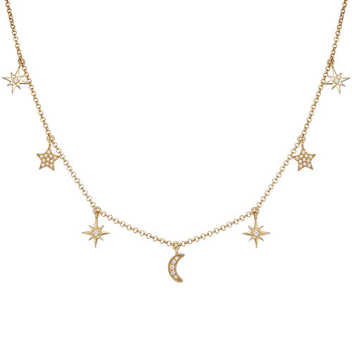 Moonlight Necklace | Yellow Gold