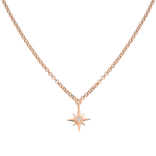 Diamond Star Necklace | Classic Gold