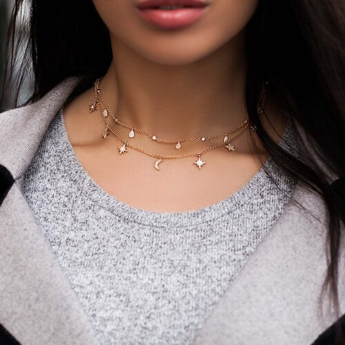 Raindrops Necklace | Classic Gold
