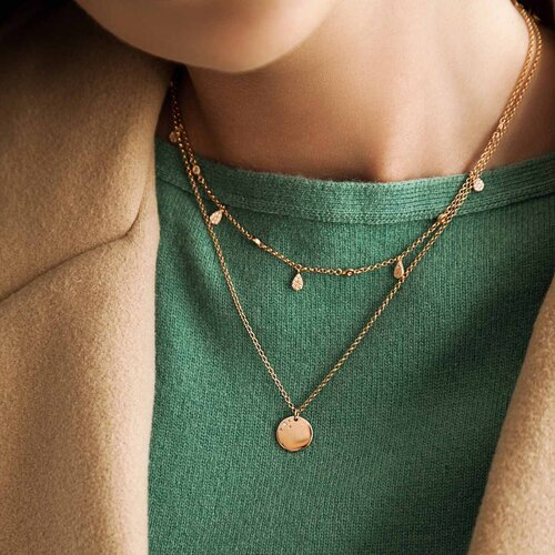 Raindrops Necklace | Yellow Gold