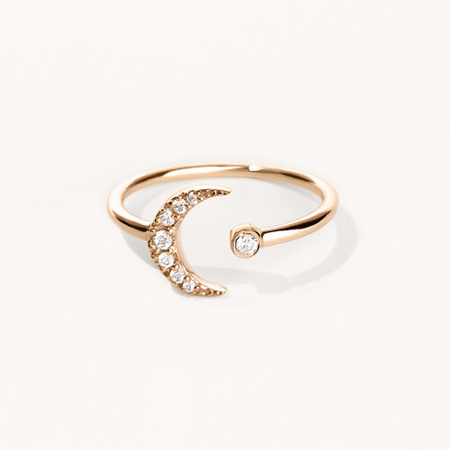 Moon Ring | Classic Gold Plated