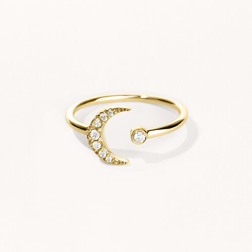Moon Ring | Yellow Gold Plated
