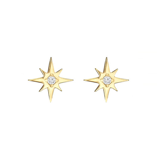 Star Earrings | Yellow Gold Plated