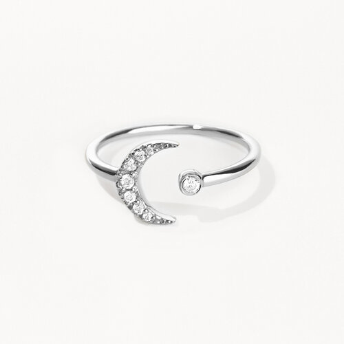 Moon Ring | White Gold