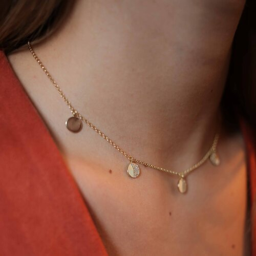 La Luna Necklace | Yellow Gold Plated