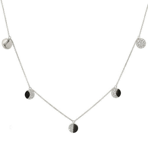 La Luna Necklace | White Gold