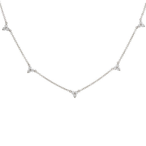 Jasmine Necklace | White Gold