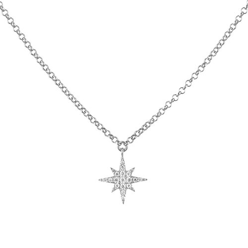 Stella Necklace | White Gold