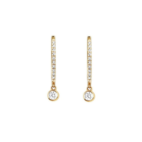 Dot Earrings | White Gold