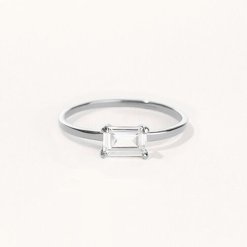 Nicole Ring | Rhodium Plated