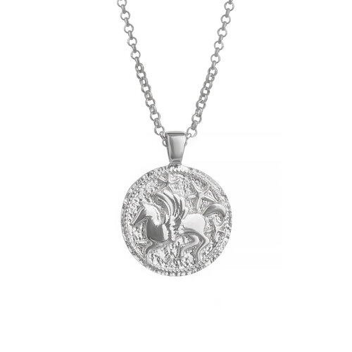 Pegasus Necklace | White Gold