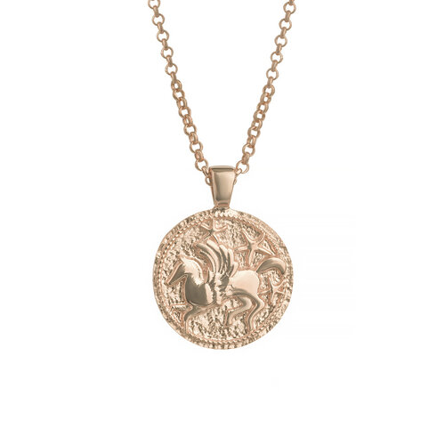 Pegasus Necklace | Classic Gold